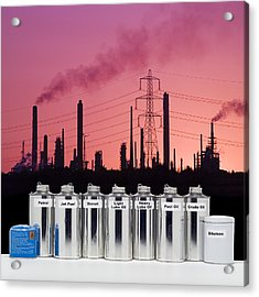 Oil Products Acrylic Print by Paul Rapson
