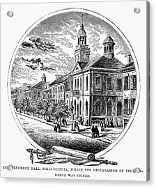 Philadelphia State House Acrylic Print by Granger