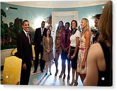 President Barack Obama Meets Acrylic Print by Everett