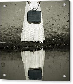 Woman With Suitcase Acrylic Print by Joana Kruse