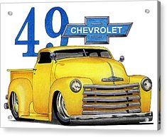 49 Chevy Acrylic Print by Lyle Brown