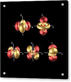 4d Electron Orbitals Acrylic Print by Dr Mark J. Winter