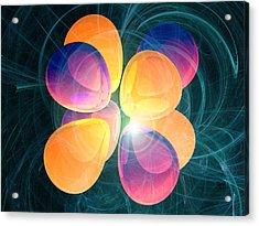 4f2 Electron Orbital Acrylic Print by Laguna Design