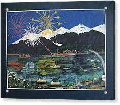 4th Of July In Juneau Alaska Acrylic Print by Sunny Eccleston
