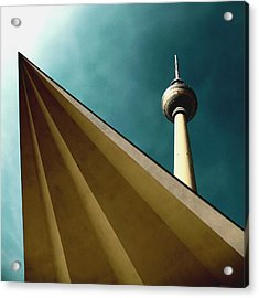 Berlin Tv Tower Acrylic Print by Falko Follert