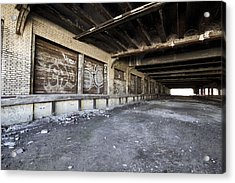Detroit Abandoned Building Acrylic Print by Joe Gee