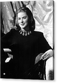 Ingrid Bergman, Portrait Acrylic Print by Everett