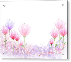 Peaceful Flower Acrylic Print by Eastnine Inc.
