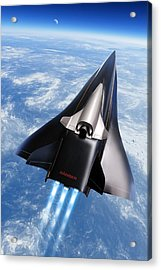 Saenger Horus Spaceplane, Artwork Acrylic Print by Detlev Van Ravenswaay