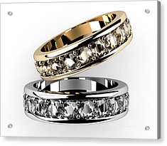 The Beauty Wedding Ring  Acrylic Print by Rattanapon Muanpimthong