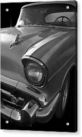 '57 Chevy Bel Air Acrylic Print by Debra and Dave Vanderlaan