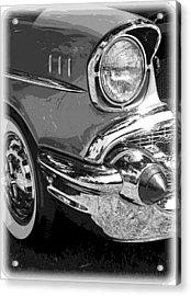 57 Chevy  Acrylic Print by Steve McKinzie