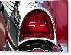 57 Chevy Tail Light Acrylic Print by Paul Ward