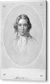 Harriet Beecher Stowe Acrylic Print by Granger