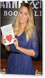 Lauren Conrad At In-store Appearance Acrylic Print by Everett