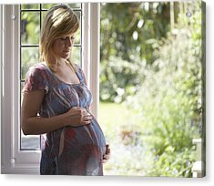 Pregnant Woman Acrylic Print by Ruth Jenkinson