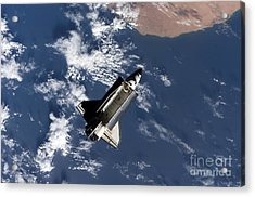 Space Shuttle Atlantis Acrylic Print by Stocktrek Images