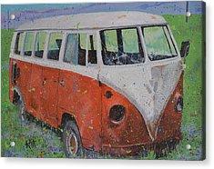 63 Vw Type 2  Bus Acrylic Print by Les Katt