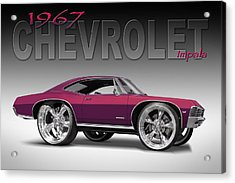 67 Chevrolet Impala Acrylic Print by Mike McGlothlen