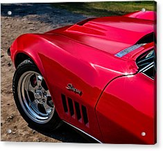 69 Red Detail Acrylic Print by Douglas Pittman