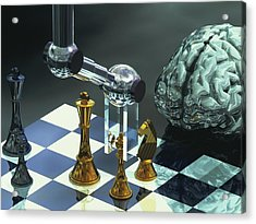 Artificial Intelligence Acrylic Print by Laguna Design