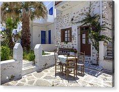 Paros - Cyclades - Greece Acrylic Print by Joana Kruse