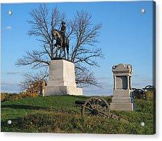 Gettysburg Three Days Battle   Acrylic Print by Valia Bradshaw