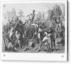 India: Sepoy Rebellion, 1857 Acrylic Print by Granger