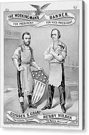 Presidential Campaign, 1872 Acrylic Print by Granger