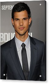 Taylor Lautner At Arrivals Acrylic Print by Everett