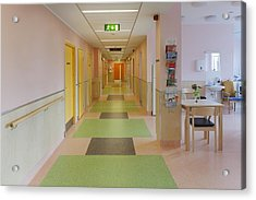The Nursing Centre A Building In P�rnu Acrylic Print by Jaak Nilson
