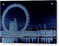 London Eye Art Acrylic Print by David Pyatt