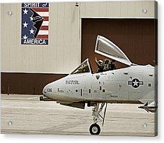 A-10 Thunderbolt Acrylic Print by Lamyl Hammoudi