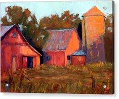 A Barn At Sunset Acrylic Print by Cheryl Whitehall