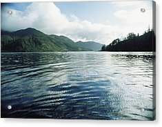 A Boat Plies The Gentle Waters Acrylic Print by Bill Curtsinger
