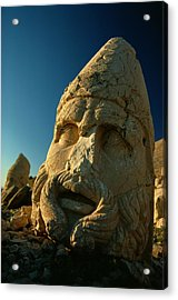 A Close View Of The Head Of The Greek Acrylic Print by Gordon Gahan