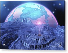 A Colony On An Alien Moon Acrylic Print by Corey Ford