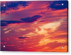 A Colorful Sky Acrylic Print by Carson Ganci