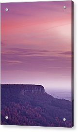 A Colourful Sunset Over Sutton Bank Acrylic Print by Julian Elliott Ethereal Light