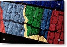 A Crack Runs Through It - Urban Rainbow Acrylic Print by Steven Milner