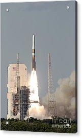 A Delta Iv Rocket Lfits Acrylic Print by Stocktrek Images