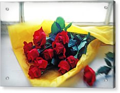 A Dozen Red Roses Acrylic Print by Garry Gay