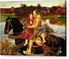 A Dream Of The Past Acrylic Print by Sir John Everett Millais