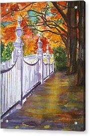 A Fall Walk Acrylic Print by Linda L Stinson