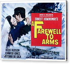 A Farewell To Arms, Jennifer Jones Acrylic Print by Everett