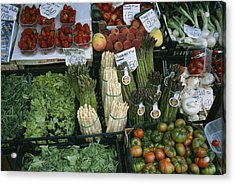 A Farmers Market Selling Vegetables Acrylic Print by Taylor S. Kennedy