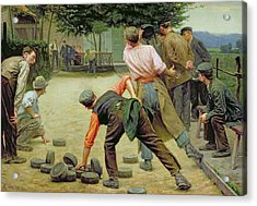 A Game Of Bourles In Flanders Acrylic Print by Remy Cogghe