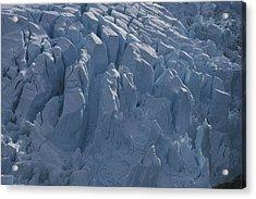 A Glacier Icefall From The Cordillera Acrylic Print by Gordon Wiltsie