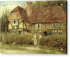 A Kentish Cottage Acrylic Print by Helen Allingham