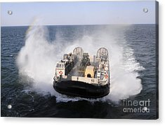 A Landing Craft Utility From Assault Acrylic Print by Stocktrek Images